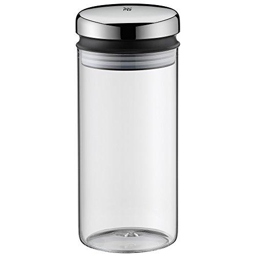 WMF Depot Vorratsglas, 1,0 l, Höhe 21,5 cm, Glas, Vorratsdose, Frischhaltedose zum Aufbewahren, große Einfüllöffnung
