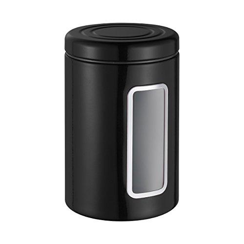 Wesco VorratsDS Vorratsdose, Edelstahl, schwarz, 12.5 x 12.5 x 18.9 cm