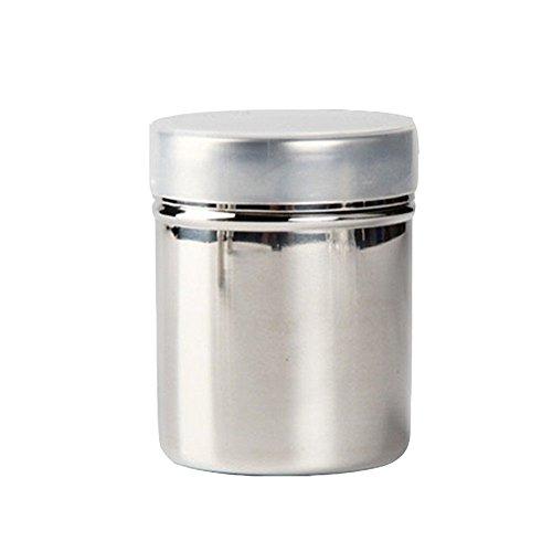 Affe Edelstahl Powder Shakers - Mesh Shaker Pulver Dosen für Kaffee Kakao Zimt Pulver mit Deckel (L)