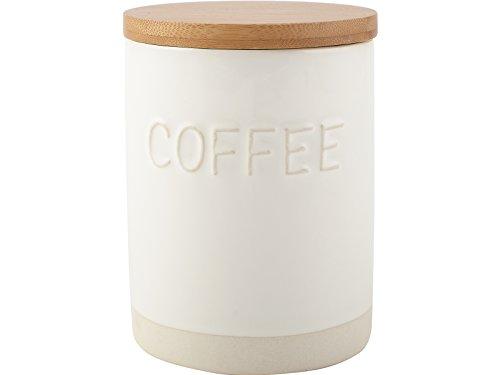 La Cafetiere Origins Kaffeedose, geprägt, Keramik, Weiß, 13.500x10.000x10.000 cm