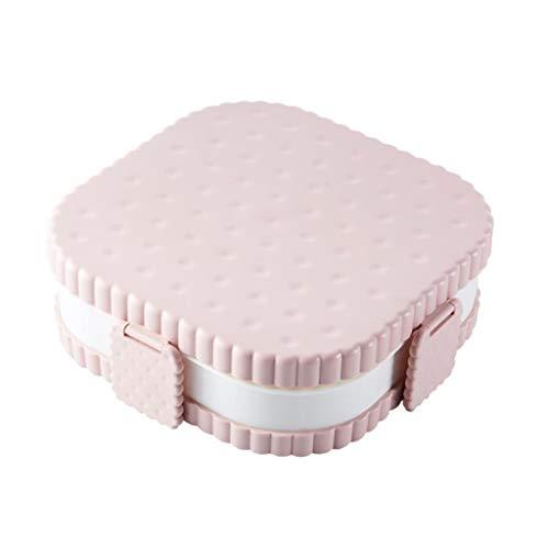 F Fityle Lebensmittelbehälter - Brotzeitbox, Glasbehalter, Frischhaltedosen, Vorratsdosen - Quadratisches Rosa