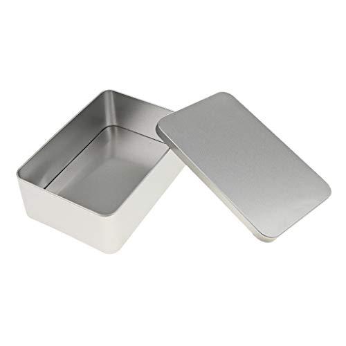 KESOTO Seifendose aus Metall, für Reisen, Seifenbox, Seifenbehälter, Blechdose, Metalldose, Tabak Dose, Scharnierdose mit Deckel