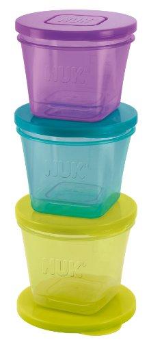 NUK Fresh Foods Frischebehälter zur Aufbewahrung von Babynahrung in 3 Größen