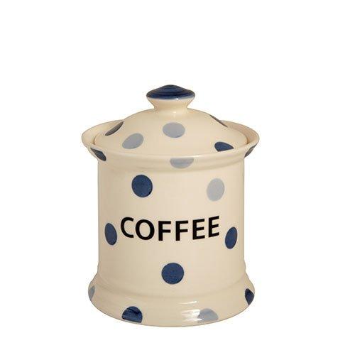 Blue Spot Fairmont & Main Kaffedosen, Steingut, Cremefarben/Blau, 2 Stück