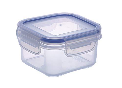 Wunschreich Gefrier-und Frischhaltedose, Snackbox, Stapelbox, Safe-Box eckig Größe 0 Mini (110 x 110 x 60 mm 0,3 L)