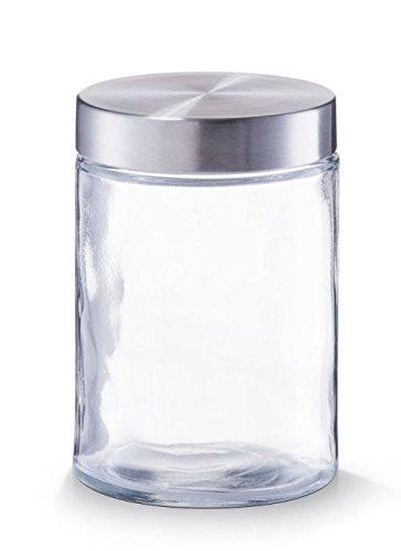 Zeller 6x Vorratsglas mit Edelstahldeckel 1100 ml