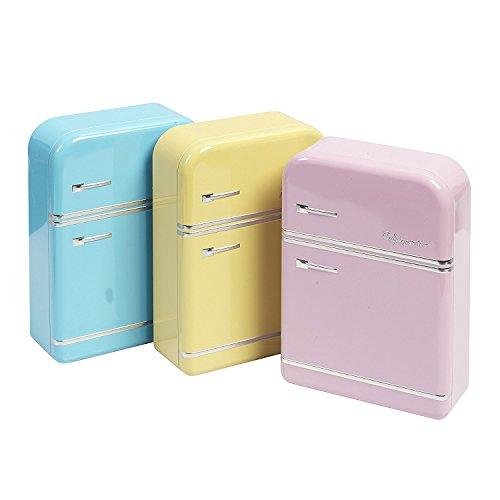 Vani Aufbewahrungs Box blau Vorratsdose Frischhalte Metall Blech Dose Kühlschrank Retro + 1 gratis Mircofasertuch 30 x 30 cm