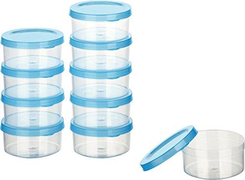 Kigima Mini-Tiefkühldose 0,1l rund 8x8x3,5cm 10er Set