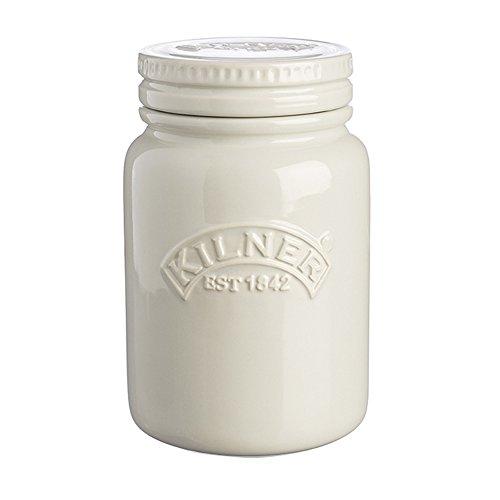 Kilner Aufbewahrungsdosen aus Keramik, Kieselgrau, 0,6Liter, luftdichte Keramik, Dosen für die Aufbewahrung von Lebensmitteln