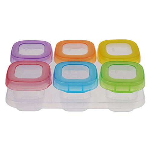 F Fityle Babybrei Aufbewahrung Babynahrung Behälter Aufbewahrungsbehälter Lebensmittel-Box - 6 Stück