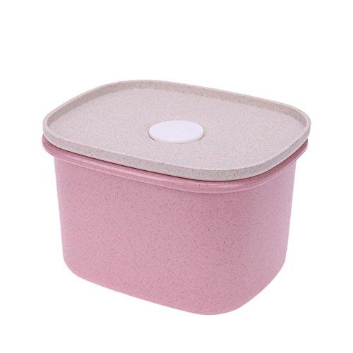 Powlance Schimmelfest weizenprodukten Muttern Aufbewahrungsbox Frischhaltedose Kleinteilemagazin, Rose, Einheitsgröße