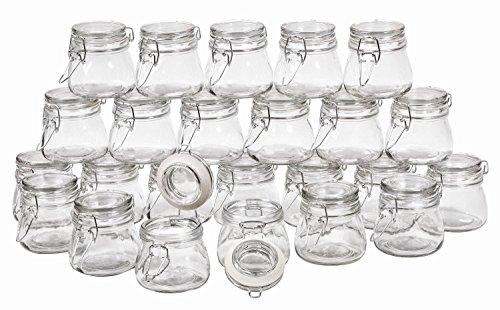 VBS Großhandelspackung 24 Vorratsglas Bügelverschluss 150ml Deckel
