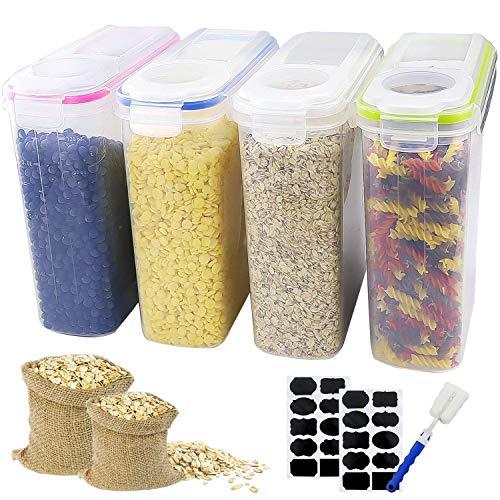 Outuxed Set 4 Vorratsdosen Streudosen Schüttdosen für streufähige Lebensmittel Frischhaltedosen 4L Vorratsbehälter Aufbewahrungsdose