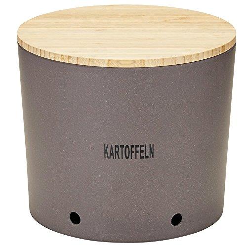 Magu Kartoffeltopf Natur-Design in Schiefer, Bambusfasern, Getreidestärke, Holzfaser, 28 x 28 x 8 cm
