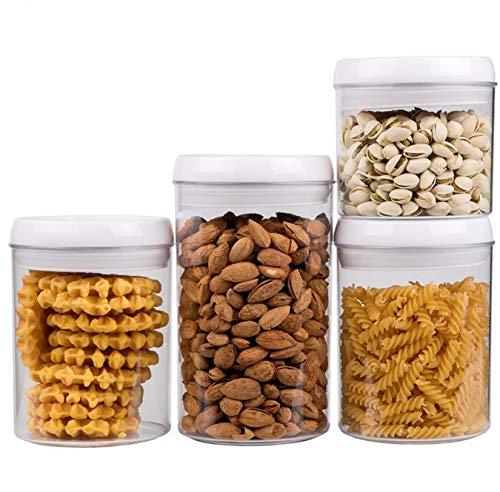 Vorratsdosen Vakuum 4er Set für Lebensmittel | Luftdicht - BPA frei | Aufbewahrungsdose Vorratsbehälter