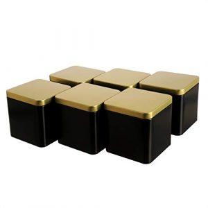 Vorratsdose Gold schwarz, Aufbewahrungsdose mit Goldenem Deckel