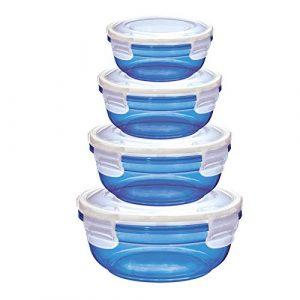 Vorratsdose blau, Aufbewahrungsdose blau, blaue Frischhaltedose