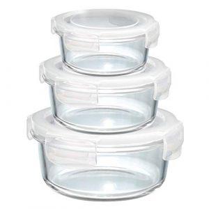 runde Aufbewahrungsdosen. runde Glas Vorratsdosen